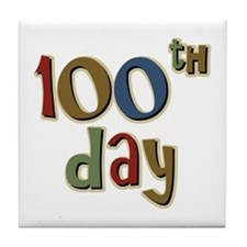 100th Day Back to School Tile Coaster