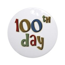 100th Day Back to School Ornament (Round)