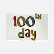 100th Day Back to School Rectangle Magnet