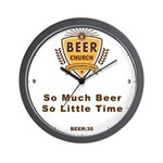 Beer Church Wall Clock