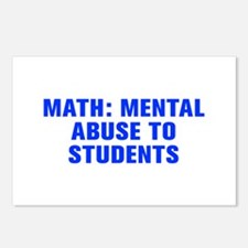 Math mental abuse to students-Akz blue Postcards (
