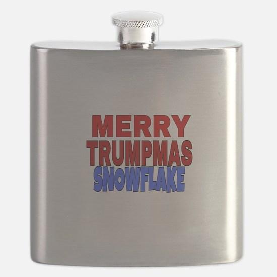 MERRY TRUMPMAS SNOWFLAKE Flask