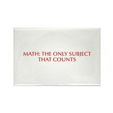 Math the only subject that counts-Opt red Magnets