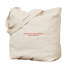 Math the only subject that counts-Opt red Tote Bag