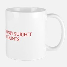 Math the only subject that counts-Opt red Mugs