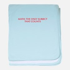 Math the only subject that counts-Opt red baby bla