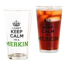 Funny Merkin Drinking Glass
