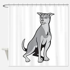 Husky Shar Pei Cross Dog Sitting Cartoon Shower Cu