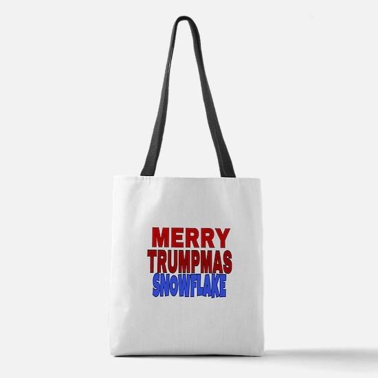 MERRY TRUMPMAS SNOWFLAKE Polyester Tote Bag