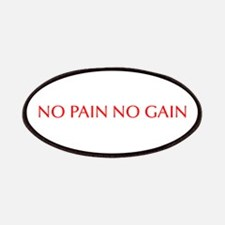 No pain no gain-Opt red Patches
