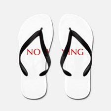 No Whining-Opt red Flip Flops