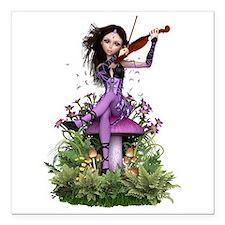 "Amethyst Fairy ~ Summer Square Car Magnet 3"" x 3"""