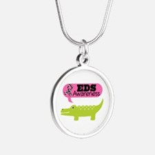 EDS Awareness cute Silver Round Necklace