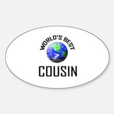 World's Best COUSIN Oval Decal