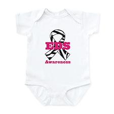 EDS Awareness Zebra Ribbon Infant Bodysuit