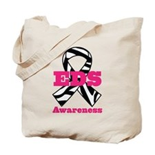 EDS Awareness Zebra Ribbon Tote Bag
