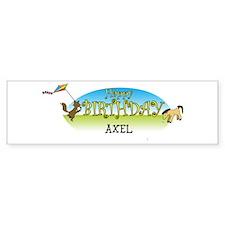 Happy B-Day Axel (farm) Bumper Bumper Sticker