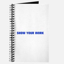 Show your work-Akz blue Journal