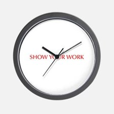 Show your work-Opt red Wall Clock