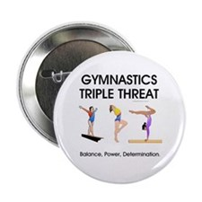 "TOP Gymnastics Slogan 2.25"" Button"