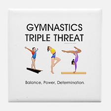 TOP Gymnastics Slogan Tile Coaster