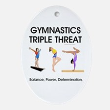 TOP Gymnastics Slogan Oval Ornament