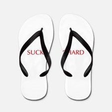 Suck my Richard-Opt red Flip Flops