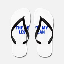 The dog ate my lesson plan-Akz blue Flip Flops