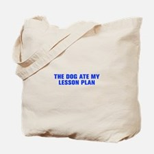 The dog ate my lesson plan-Akz blue Tote Bag