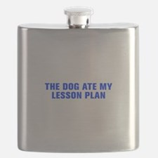 The dog ate my lesson plan-Akz blue Flask