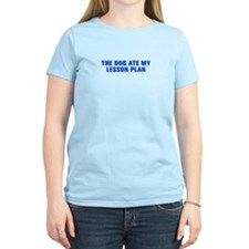 The dog ate my lesson plan-Akz blue T-Shirt
