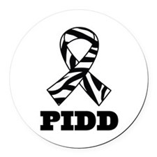 PIDD Awareness Ribbon Round Car Magnet