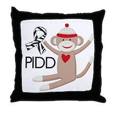 PIDD Awareness monkey Throw Pillow