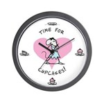 """Time for Cupcakes!"" Babymouse Wall Clock"