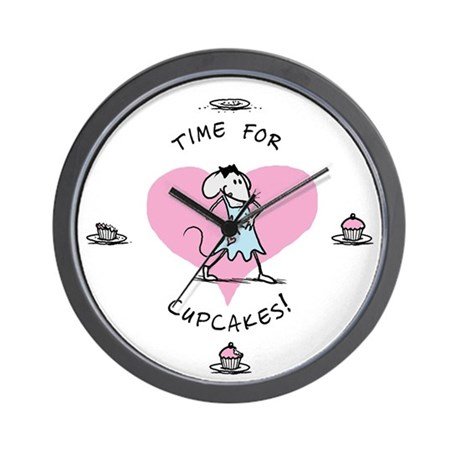 """""""Time for Cupcakes!"""" Babymouse Wall Clock"""