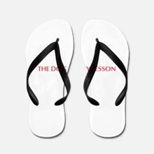 The dog ate my lesson plan-Opt red Flip Flops