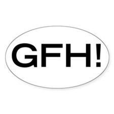 Get F'n Huge! Oval Decal
