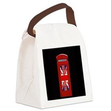 Union Jack London Phone Box Canvas Lunch Bag