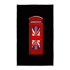 Union Jack London Phone Box Area Rug