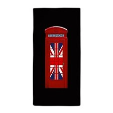 Super! Union Jack London Phone Box Beach Towel