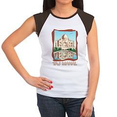 Retro Taj Mahal Women's Cap Sleeve T-Shirt