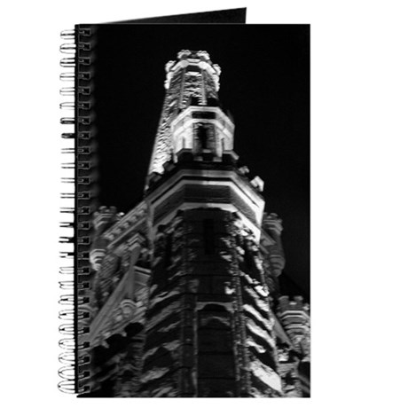 Chicago Water Tower as Castle Journal b/w