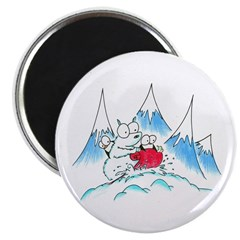 polar bear and penguins Magnet
