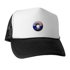 USA - Indiana Flag Donut Trucker Hat