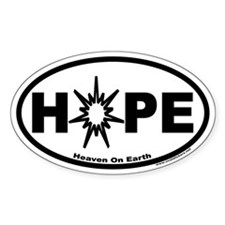 Hope ~ Heaven On Earth Oval Decal