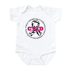 CVID Zebra Ribbon Infant Bodysuit