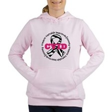 CVID Zebra Ribbon Women's Hooded Sweatshirt