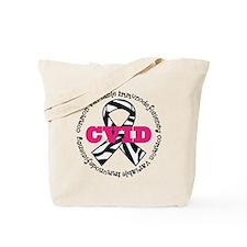 CVID Zebra Ribbon Tote Bag
