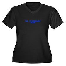 Yes I m pregnant again-Akz blue Plus Size T-Shirt