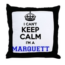 Funny Marquette Throw Pillow